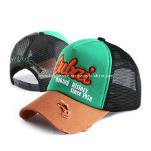 Fashion Promotional Destory Trucker Mesh Hat