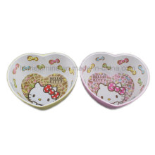 Two Tone Melamine Heart Shaped Bowl with Logo Inside (BW7202)