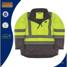 Chaqueta de trabajo de seguridad con aislamiento de alta visibilidad chaqueta de trabajo