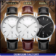 Yxl-445 New Arrival Men Watch Business Mode Calendrier en cuir véritable Date Japan Movt Quartz Wrist Watch