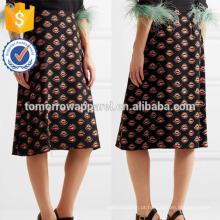 Nova Moda Multicolorido Impresso Crepe Lápis Saia DEM / DOM Fabricação Atacado Moda Feminina Vestuário (TA5123S)
