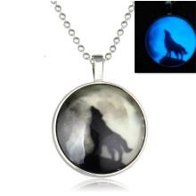 Moonlight Wolf Colar luminosa Colar Africano Jóias Colar