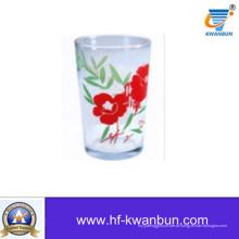 Copo de chá de vidro com decalque de vidro de vidro de vidro de copiar Kb-Hn0738