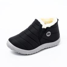 Hot sale fashion 2021 luxury women winter ankle plush boots waterproof keep warm anti slip woman casual shoes