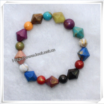 Cheapest Bead Bracelet Wholesale Bracelet China Love Charm Popular Handmade Resin Bead Bracelet (IO-aj032)