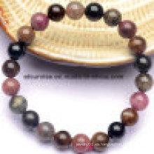 Pulsera de turmalina de cristal de moda de piedra semi preciosa