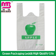 Clearance price high quality biodegradable t shirt bag for sale