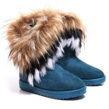Wholesale Women Winter Fur Boots High Quality Warm Snow Fur Boot