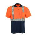 Camiseta de seguridad reflectante de manga corta con bolsillo