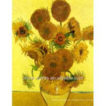 Pintura al óleo famosa del girasol de Van Gogh en lona