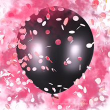 """Baby Geschlecht Reveal Ballon Set rosa Pulver und Konfetti für Baby-Dusche - Baby Girl Kit - Jumbo 36 """""""
