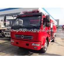 DONGFENG Duolika 5CBM água tanque caminhão de bombeiros