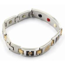 Moda pulseira de aço inoxidável de saúde para homens