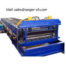 Roll formando maquinaria/teja rodillo que forma la máquina corrugado rollo formando equipo