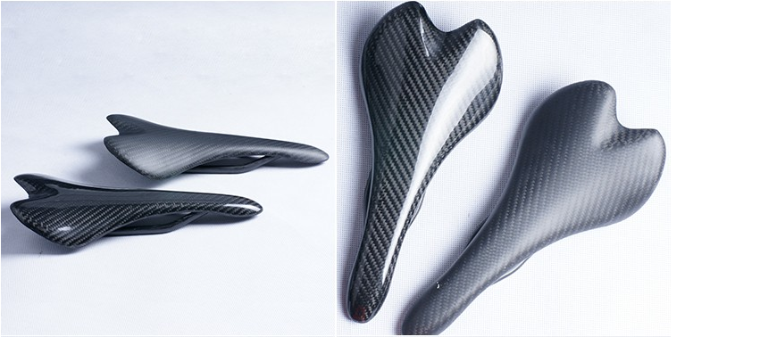 Carbon fiber saddle types