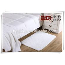 Custom Cotton White 350g Tecido liso Embroidery toalha do assoalho do hotel