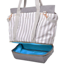 Bolso de pañales Eco Friendly Weekender con correas de cochecito