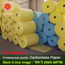 blue impression carbonless paper