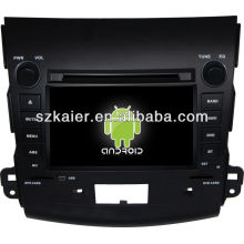 Android System car dvd player for Mitsubishi Outlander with GPS,Bluetooth,3G,ipod,Games,Dual Zone,Steering Wheel Control