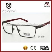 Logo personnalisé personnalisé homme métal optique lunette lunettes