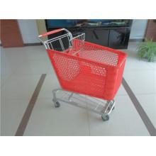Zink und Kunststoff gesprüht Retail Shop Trolley Warenkorb