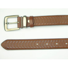 Man's embossed classical PU leather belt