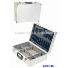 Quadratische Silber Aluminium-Werkzeugkoffer