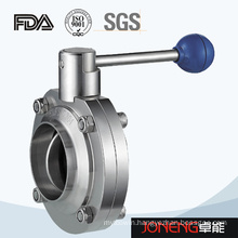 Stainless Steel Food Processing Manual Welded Butterfly Valve (JN-BV1010)