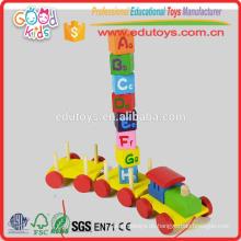Bunte Zahlen Blöcke Zug Spielzeug, Mathe Lernblöcke Zug für Kinder, Stapelblöcke Zug für Großhandel