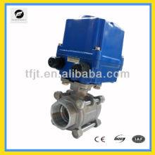 CTF-010 Acier Inoxydable 304 AC220V 100NM 2 'vanne à bille de moteur pour le projet de contrôle automatique de traitement de l'eau