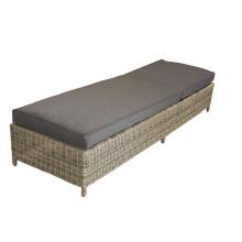 Aluminum Outdoor Round PE Rattan Folded Lounge