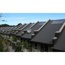 Calefacción solar de agua y sistema de calefacción de habitaciones.
