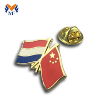 Soft enamel flag custom pin badge
