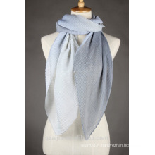 Fashion ladies polyester crinkle ombre voile longue écharpe