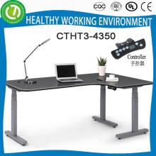 Hohe Qualität L-Form höhenverstellbare Hebe Metall Bürotisch