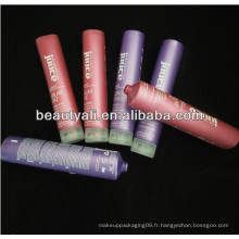 Tubes cosmétiques en plastique PE avec perlés