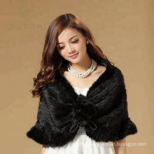 Customized lady raccoon fur shawl