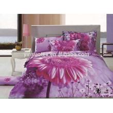 100% Polyester erwachsene Dispersion drucken 3d comforter set