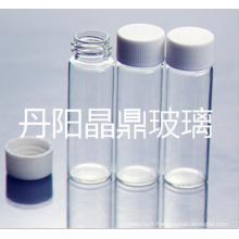 Série d'approvisionnement du flacon de verre tubulaire vissé transparent de haute qualité