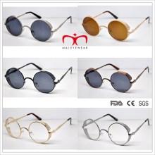 Lunettes de soleil en métal à lunette ronde spéciale Retro Style (MI216)