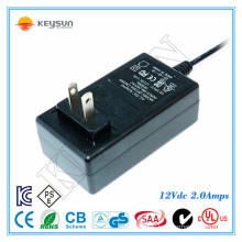 Wall-mounted Class 2 power supply switching power 12V2A AC/DC adapter