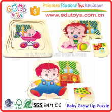 Child Educational Products Baby Grow Up Wooden Puzzle Game