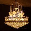 Guzhen E12 / E14 elegantes kleines goldenes geführtes Kristallleuchter-Pendelleuchte für Hauptwohnzimmer