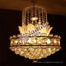 Гучжэнь Е12/Е14 элегантный малый золотой светодиодный кристалл кулон люстра свет для домашнего гостиной