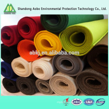 Beautiful in colors excellent quality needle punched non-woven colorful 100% wool felt