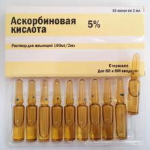 Injection d'acide ascorbique, injection de vitamine C