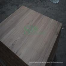 Decoração painel contínuo da madeira usada na noz preta
