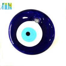 Verre plat de mode rond mauvais oeil perles pour bijoux pendentif
