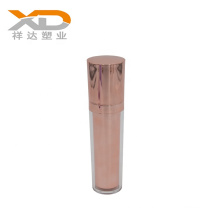 High quality double wall 100ml electroplated rose gold round acrylic cosmetic bottle for body lotion customized