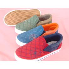 Niños zapatos de lona de los niños zapatos vulcanizados (SNK-02048)